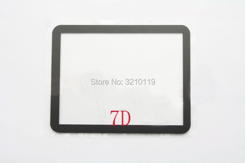 NOVO PARA Canon EOS 7D Outer LCD Montra Tela de Vidro reparação peças de Reposição