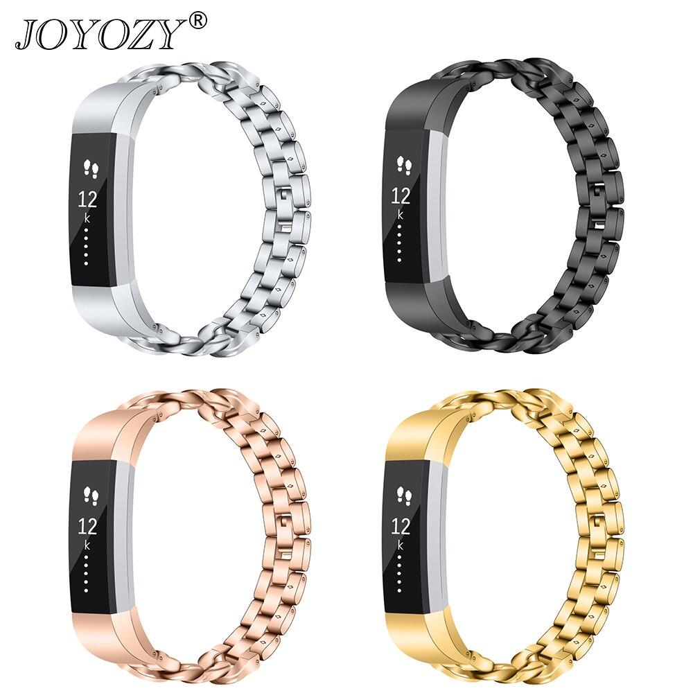 Nova chegada 4 cores de metal aço inoxidável relógio banda pulseira substituição para fitbit alta hr/alta rastreador pulseira alta qualidade