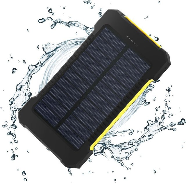 New Waterproof 10000Mah Solar Power Bank with LED Solar Charger Dual USB Power Bank  for iphone7 samsung s6 s7edge