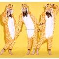 Жираф одна часть животных косплей костюм Onesies пижамы комбинезон толстовки взрослых косплей костюмы для хэллоуина и карнавал