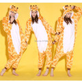 Giraffe One Piece Animal Cosplay Costume Onesies Pajamas Jumpsuit Hoodies Adults Cosplay Costumes for Halloween and Carnival