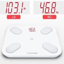 GASON S4 LED גוף מאזני אמבטיה רצפת מדעי חכם אלקטרוני דיגיטלי שומן משקל מאזן ביתי Bluetooth APP אנדרואיד