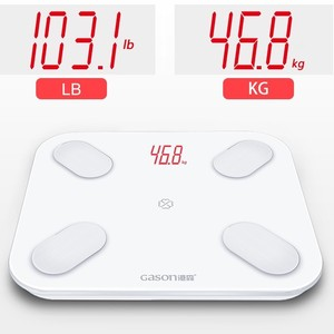 Image 1 - GASON S4 LED גוף מאזני אמבטיה רצפת מדעי חכם אלקטרוני דיגיטלי שומן משקל מאזן ביתי Bluetooth APP אנדרואיד
