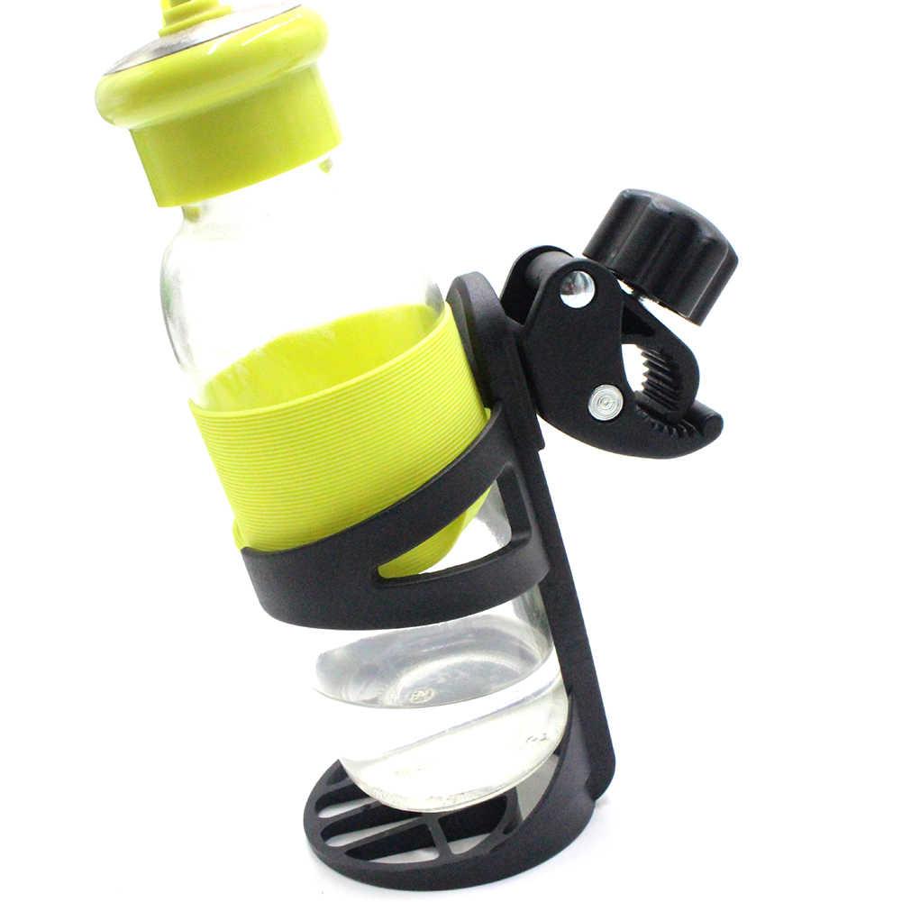 1 soporte de plástico para botella de leche y bebidas, soporte para taza para bicicleta silla de bebé, soporte de almacenamiento para triciclo, accesorios de cochecito de 14,5 cm x 8cm