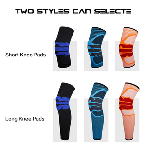 Image 2 - Moeite waard Elastische Silicon Padded Basketbal Kniebeschermers Ondersteuning Patella Brace Kneepad voor Fitness Gear Volleybal Sport Protector