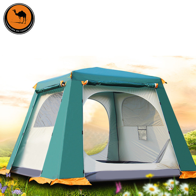 Outdoor waterproof 3-4 family automatic tents set multiplayer anti-UV double layer big  sc 1 st  AliExpress.com & Outdoor waterproof 3 4 family automatic tents set multiplayer anti ...