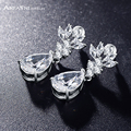ANFASNI New AAA Cubic Zirconia Earring For Women Silver Color Wedding Jewelry Accessories CER0025-B
