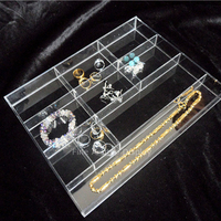 Quality Clear Acrylic Jewelry Display Boxes Necklace Tray Earring Rings Holder Bracelet Storage Case Gemstone Beads Organizer