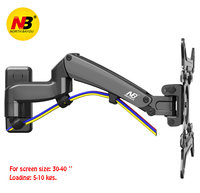 NB F300 TV Wall Mount 30 40 inch Monitor Holder Gas Spring Free Lifting Swivel Stretchable Tilt Stands Aluminum Long Arm Bracket
