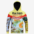 Hot Noodles Chicken Food 3D Print Hoodies Front Pocket Hoody Drawstring Sweatshirt Pullover Unisex Outerwear Quality
