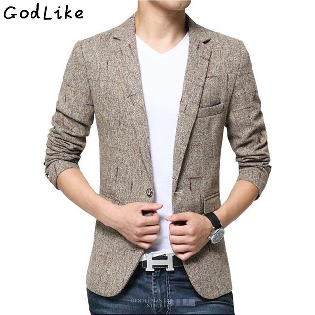 Male casual blazer fashion slim Fit suit Men\'s clothing outerwear ...