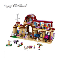 10562 594Pcs Heartlake Riding Club Building Blocks Kids Model DIY Brick Compatible Legoing Girls Friends Toys For Children 41126 building blocks girls series the heartlake grand hotel model finger brick compatible 41101 educational toys for kids