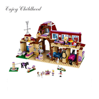 10562 Girls Friends Heartlake Riding Club Building Blocks 594Pcs Kids Model DIY Bricks Toys For Children With Legoings 41126