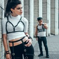 gothic punk leather harness new punk body harness bra cage harajuku style fashion suspender harness