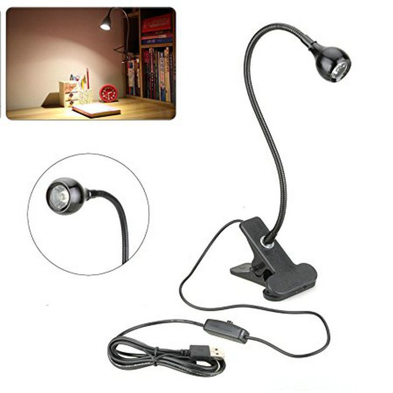 USB Rechargeble LED Light Clip-on Flexible Reading Bed Lamp Table Desk Lamp Book Desktop Bed Lamp Lighting Bedside Lighting usb powered 18 led white light flexible desktop lamp w adapter white silver