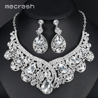 New Free Shipping Luxurious Large Teardrop Crystal Imitated Gemstone Bridal Jewelry Sets Wedding Jewelry Necklace And