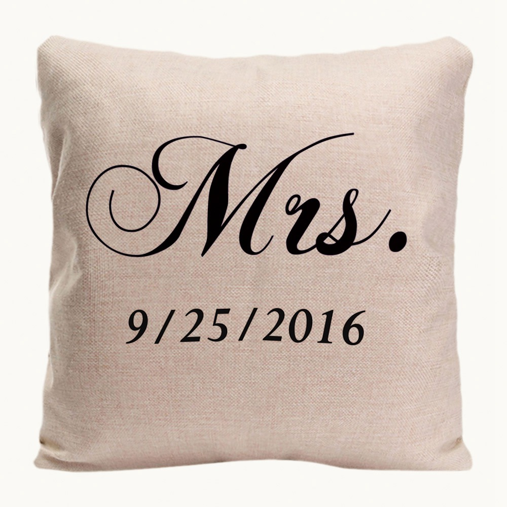 Mr. Right Mrs. Always Right Cushion Cover Home Decorative Pillow Case - Home Textile - Photo 3