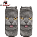 ZHBSLWT 3D Print Socks For Women and Men Animal Cat Different Patterns Casual Polyester Sock Spring and Autumn Hot Sale