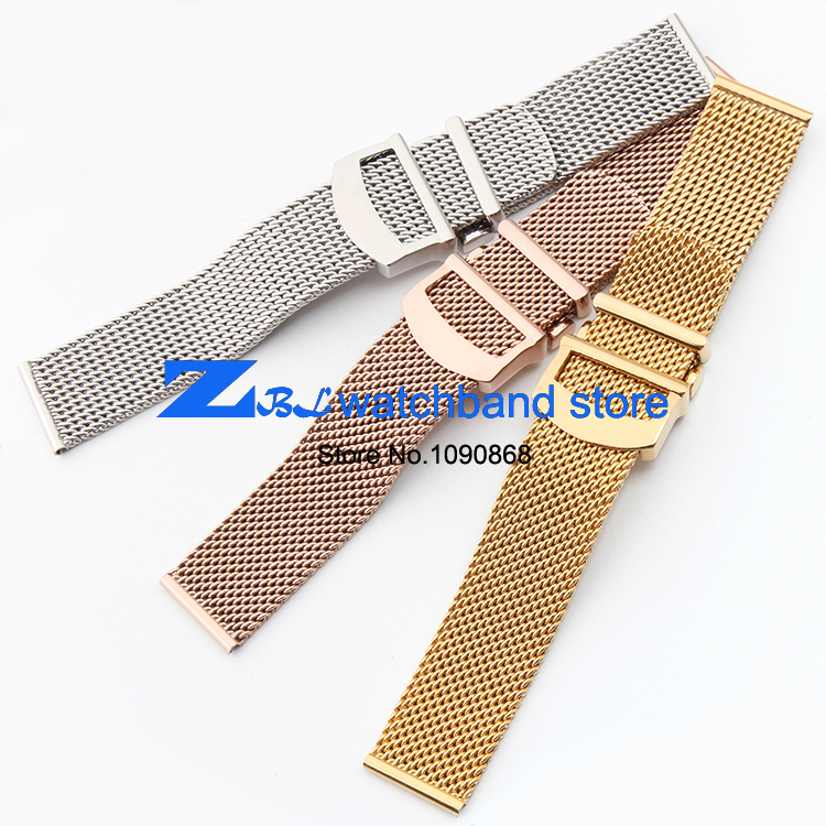 Hög kvalitet tjockt rostfritt stål klockband Mesh stålband silver - Tillbehör klockor - Foto 4