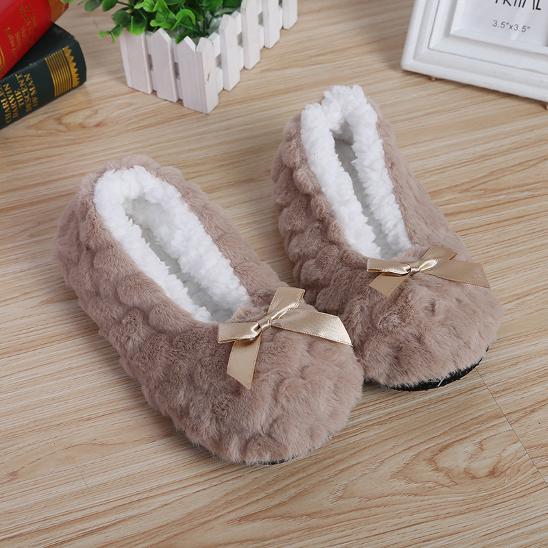 Indoor Soft Plush House Slippers For Womens