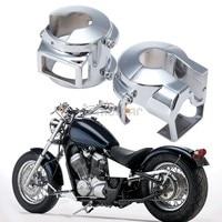 1pair Chrome Aluminum Motorcycle Handlebar Switch Housing Cover For Honda Shadow 600 Vt 750 Spirit Vtx 1300 Vt1300 2010 13