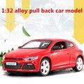 Alta simulación modelo de Volkswagen, 1: 32 escala aleación tire volver coches de juguete, intermitente y musical, funde y automóviles de juguete vehicl, shpping libre