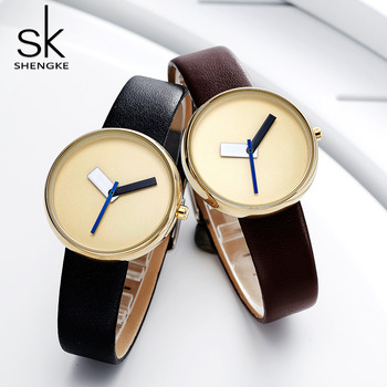 shengke Luxury Leather Watches Women Creative Thin Clock Wrist Watches For Reloj Mujer SK 2020 New Female relogio feminino image
