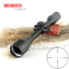 Hunting Optic 3-15X42 Long Range Riflescope Side Wheel Parallax Optic Sight Rifle Scope Hunting Scopes Sniper Luneta Para Rifle цена и фото