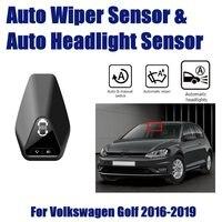 Smart Car Driving Assistant SystemFor Volkswagen VW Golf 7 1.5L 2016~2019 Auto Automatic Rain Wiper Sensor & Headlight Sensors