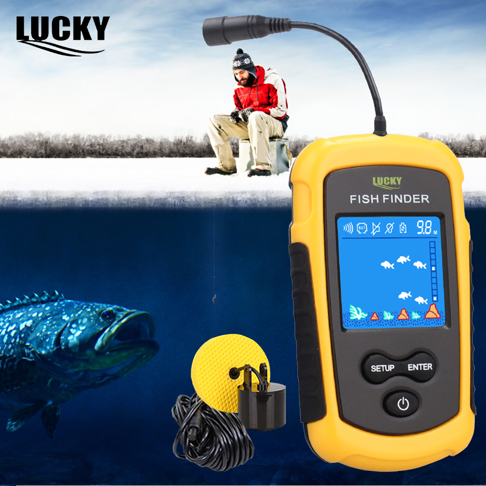 Lucky Echo Sounder Sonar for Fishing Fish Finder Portable Sonar FishFinder for Boat for Ice Fishing