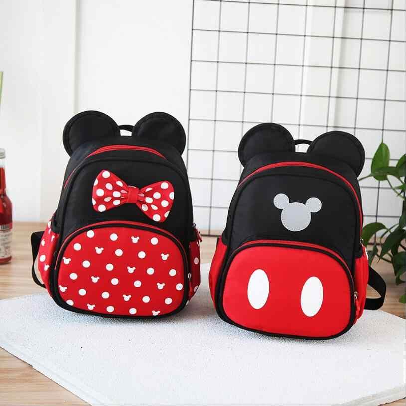bce5564e6c21 2019 новые детские школьные сумки Детский сад Дети мультфильм Микки  школьные сумки Минни рюкзак непромокаемые школьные