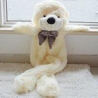180cm/71 inch,Semi finished big white unstuffed teddy bear soft bearskin soft toy skins shell brown baby plush soft empty toys