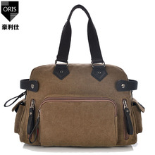 ORIS fashion men s handbags messenger bags businessmen high quality casual  canvas A4 paper keeper single shoulder 6057c42e708a6