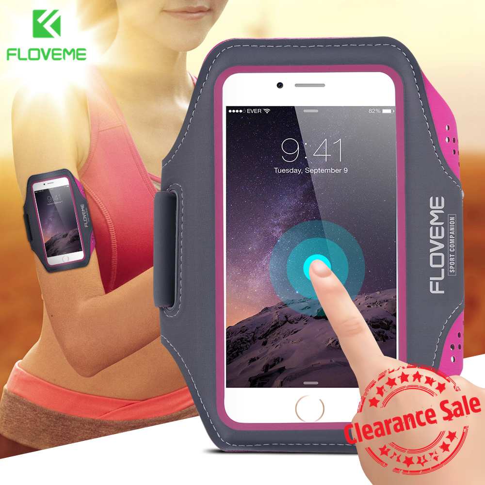 FLOVEME Colorful Sport Armband Case For iPhone 6 6S Plus Cases Running Sports Arm Band For iPhone 7 8 Plus X 10 Ten Belt Holder