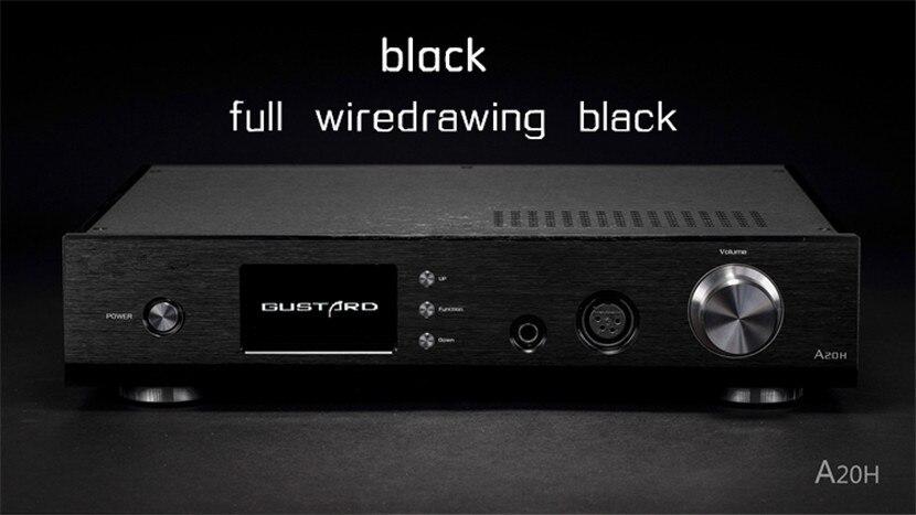 GUSTARD A20H DAC Decoder and Amplifier Double AK4497 XMOS Full Balance Amp All Interfaces Support DSD breeze audio dsd usb dac es9018k2m xmos u8 op275 2 lm49860 class a earphone decoder i2s dsd usb audio amplifier amp