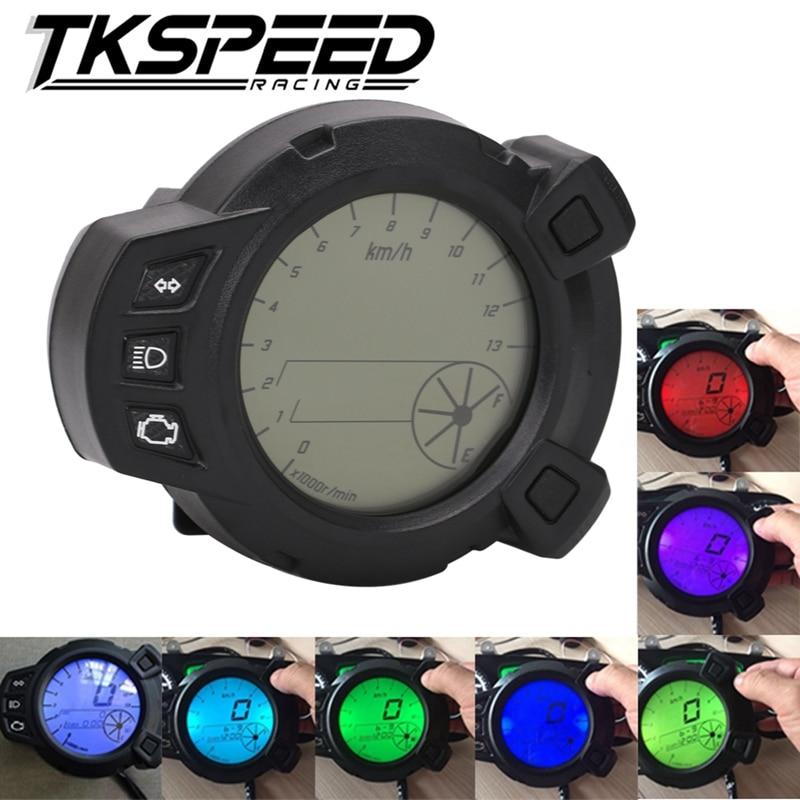 Motorcycle Instruments 10000 RMP LCD Speedometer Tachometer for Yamaha Zuma BMK x125 YW125 speedomerter for Yamaha BWS 7 color