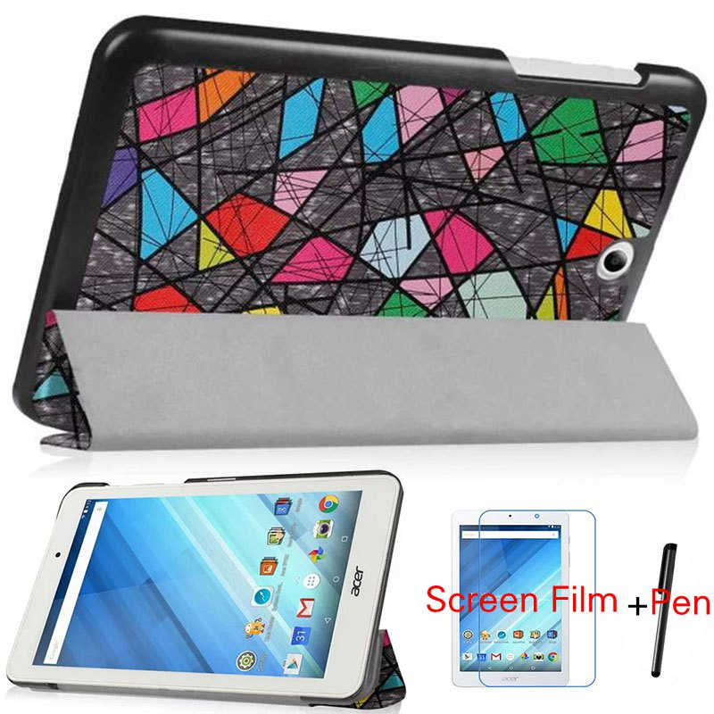 Stand Magnetic Painted PU Leather Case for Acer Iconia One 8 B1-850/ B1 850 8.0