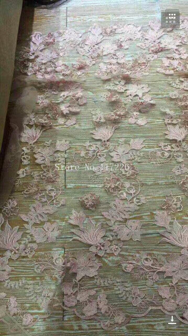 ที่นิยมJRB-110933 3D t ulleแอฟริกันปักลูกไม้ผ้าสุทธิฝรั่งเศสลูกปัดembroderyลูกไม้ผ้าผ้าสำหรับการแต่งกาย