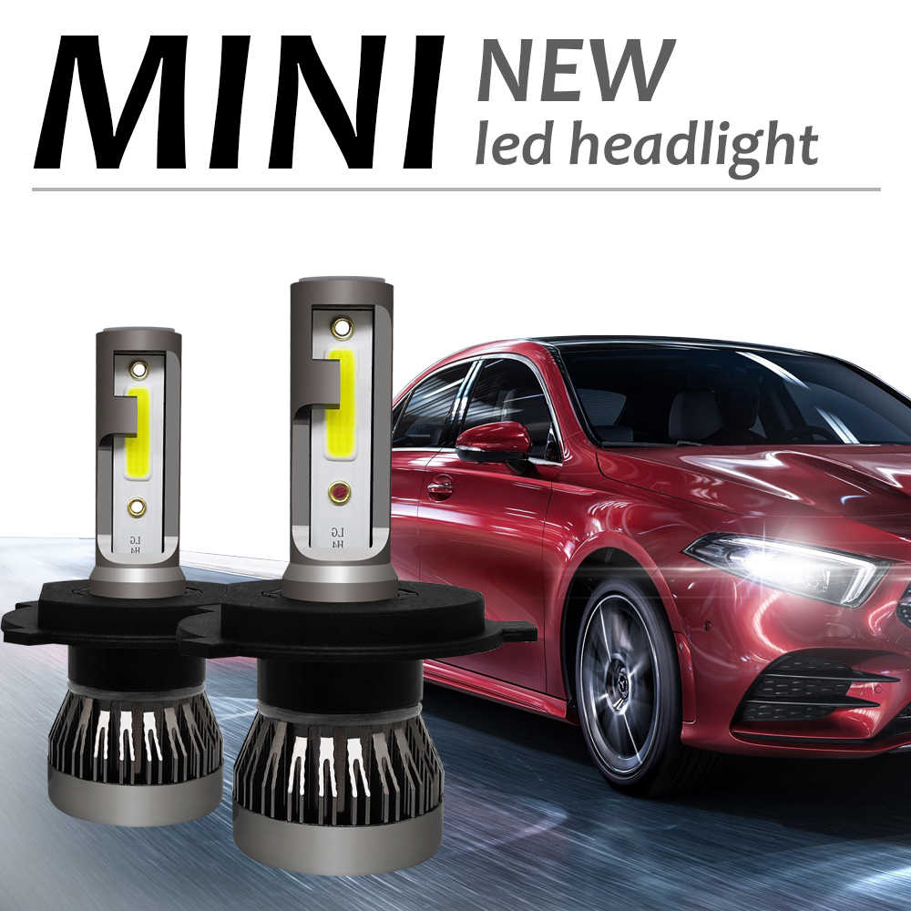 Shipping by DHL Super Mini Size H4 LED 9005 HB3 9006 HB4 H7 H11 H1 Auto Lamp Car Headlight Bulb LED Lamps for Car 60W 8000LM 6000K