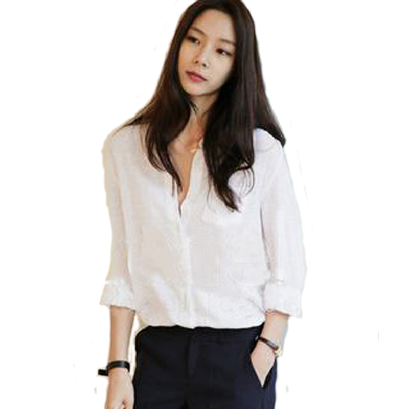 Stand Collar Blouse Designs Images : Women red linen blouse stand collar shirt design long
