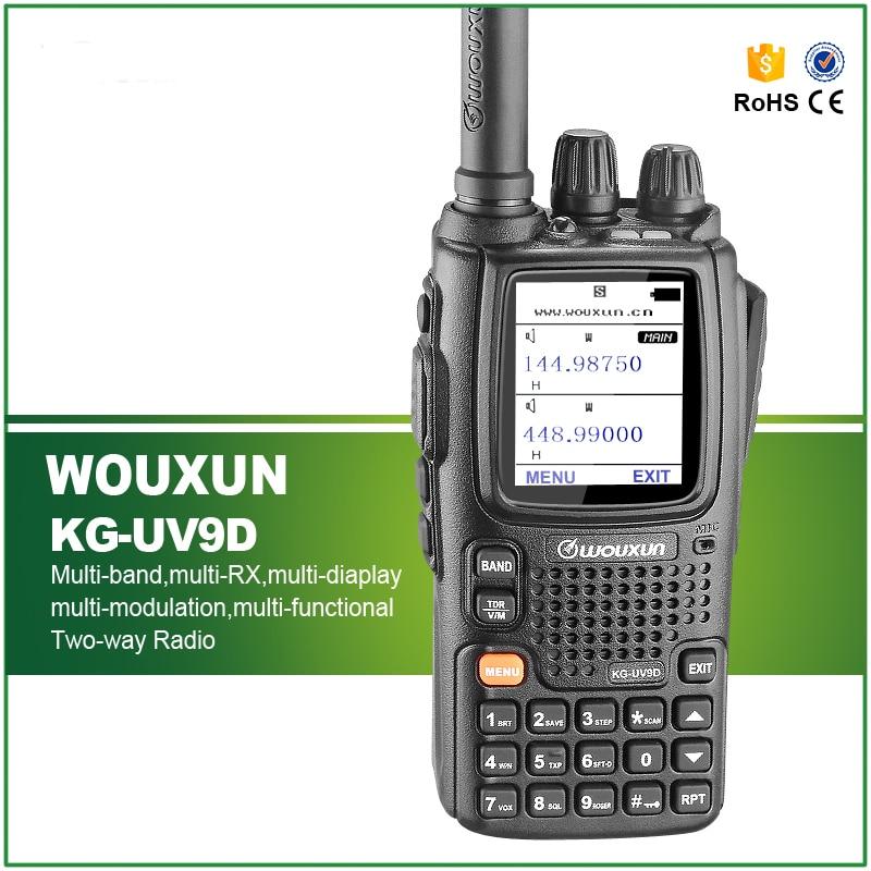 Original Wouxun KG UV9D Walkie Talkie Dual Band Dual Display 136 174 400 512MHz Air Band