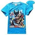 2016 Детская Одежда мальчик мальчики с коротким рукавом Бэтмен топы тенниски хлопка рубашки Футболки 4 шт./лот 8236