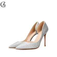 Купить с кэшбэком Brand Womens shoes High heels Sexy pointed teo Thin heels 2017 Pumps Business Wedding Party Lastest Night-Club Custom-made