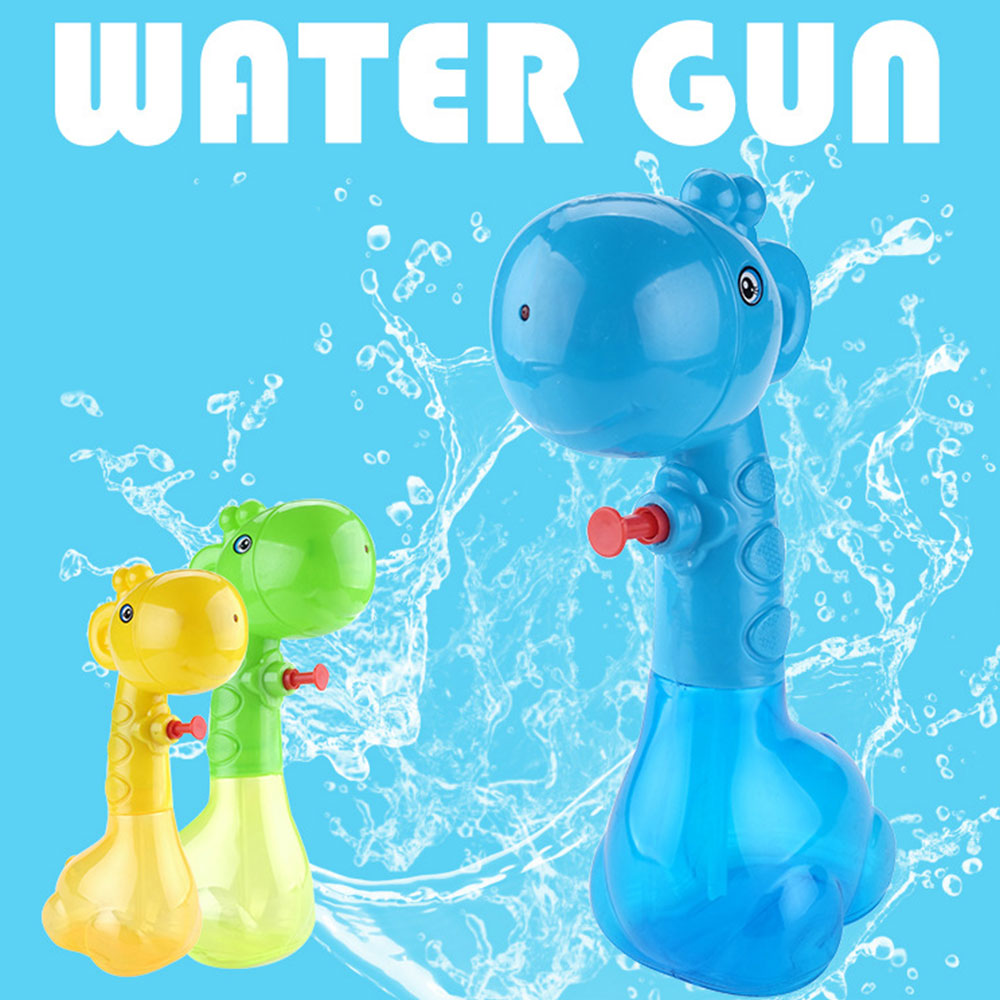 Children Mini Cartoon Giraffe Water Gun Toy For Kids Adult Squirt Toy For Swimming Pools Party Outdoor Beach Sand Water