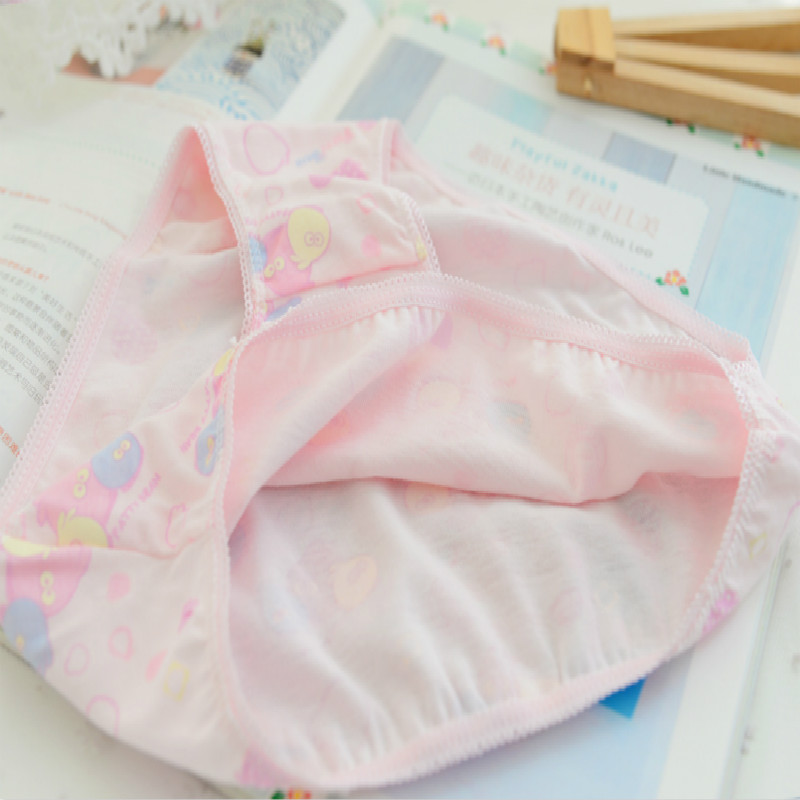 5 Pcs/lot New Candy Colors Mix Styles 100% Cotton Print Children's Underwear Panties for 2-12 Years 5