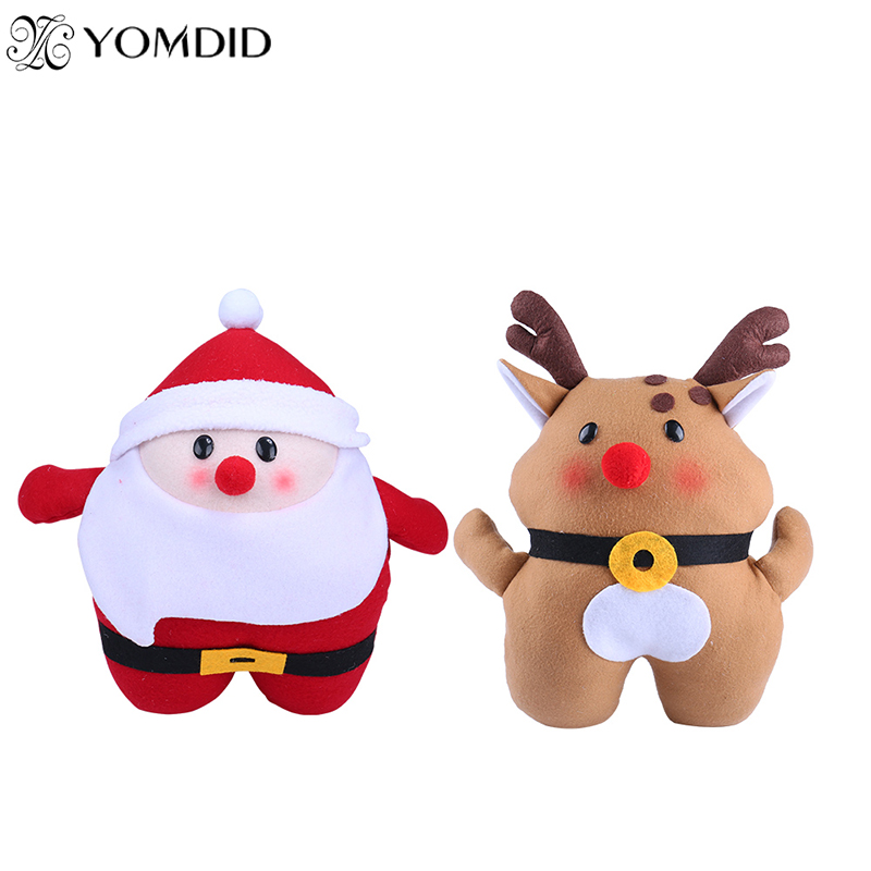 Christmas Santa claus Warm Hand Xmas Plush Toys Winter Gifts for childrens Xmas deer Ornaments Home decorations Xmas gift
