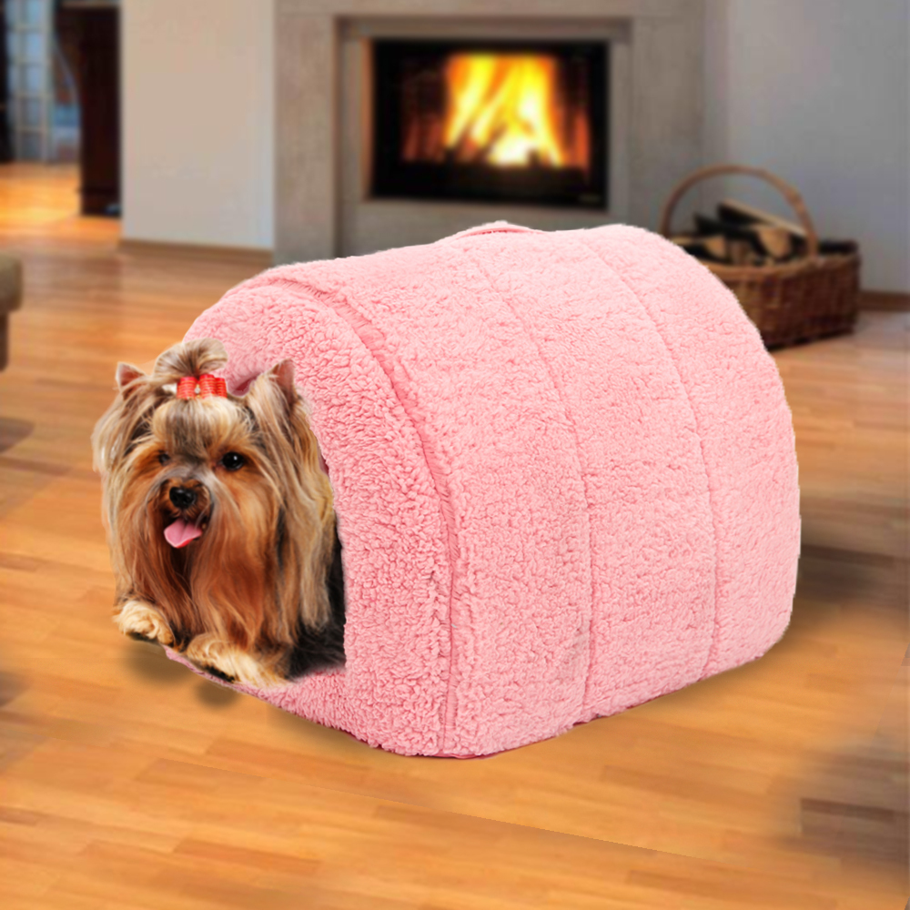 Pet Bed 5 Colors Cotton Dog Cat Bed Kitten Cave Warm House