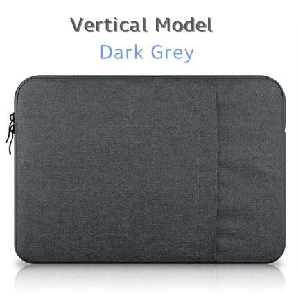 """Брендовый чехол aigreen для ноутбука 1"""", 13"""", 1"""", 15, 15,6 дюймов, сумка для Macbook Air Pro 13,3"""", 15,"""", Прямая поставка - Цвет: Vertical Dark Grey"""