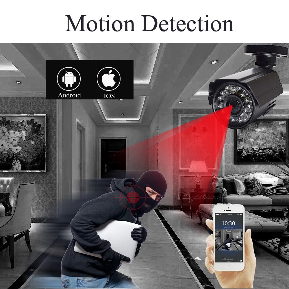 CCTV kamera sicherheit system kit 4CH 720 P/1080 P AHD sicherheit kamera DVR CCTV Kit Outdoor Indoor hause video Überwachung System