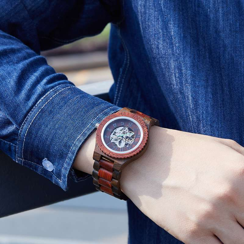 Wood Watch Quartz Watches Wooden Wooden Watch Men205